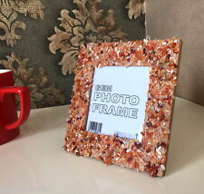 Gemstone Picture Photo Frame 5x5inches square made with Carnelian Gem Chips A786