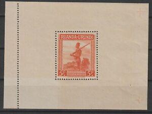 Ruanda-Urundi - Sheet - 1944 - COB BL4** - MNH -