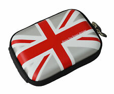 Croco® SILVER Union Jack Flag SML Hard Case for Canon Powershot Ixus 80 IS 82 IS