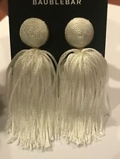 Baublebar White Sonatina Tassel Earrings