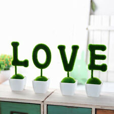 4pcs Artificial Flowers Pot Emulate Bonsai Simulation Decor Valentine's Day gift