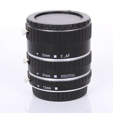 Auto Focus AF Automatic Extension Tube Sliver Metal For Kenko Canon EF EF-S Lens