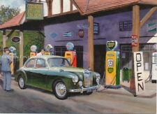 MG Magnette Classic Car BP Petrol Station 1950s Birthday Card