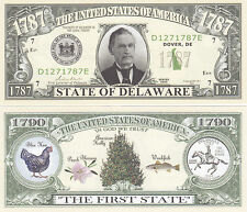 50 Delaware DE State Quarter Novelty Notes Bills Lot