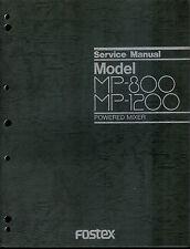 Rare Original Factory Fostex MP-800/1200 Powered Mixer Service Manual
