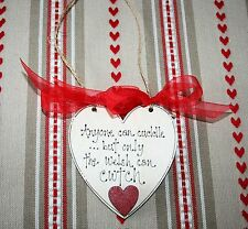 Valentines Wooden Heart Plaque Quote CWTCH  Beautiful gift of LOVE