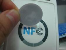 NTAG213 RFID NFC Round 25mm Adhesive back White Smart Sticker Tag -1000pcs