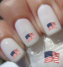 Design USA Fahne / US Flag Nail Art Nageldesign Water Transfer Nagelsticker