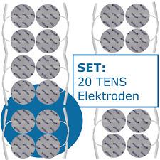 20 Elektroden Pads 5 cm rund für TENS EMS Reizstrom Gerät mit 2mm-Stecker PIN