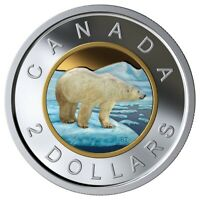 CANADA 2019 $2 99.99% PROOF SILVER COLOURED TOONIE HEAVY CAMEO COIN