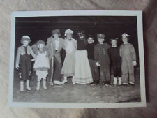 Vintage 1950's Photograph Snapshot Group Young Children Costumes Halloween 5x7 B