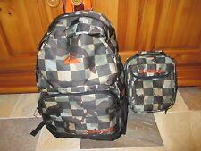 NWT QUIKSILVER Full Size Backpack School, Skate,Surf, & Bonus Lunch Box