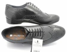 New RRP £59 (1260) Ex-M&S Men's New Leather Black Lace Up Brogues Shoes Sizes UK