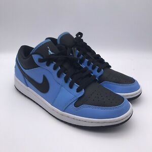 Men's Nike Air Jordan 1 Low Size 8.5 University Blue Black 553558-403