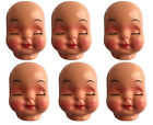 Lot of 6 Vintage Sleeping Girl Celluloid Plastic Craft Doll Making Faces Masks