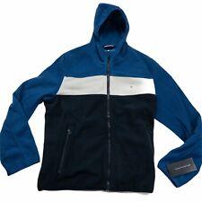 Tommy Hilfiger Mens Hooded Performance Fleece Jacket Blue...