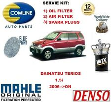 FOR DAIHATSU TERIOS 1.5 4x4 2006-->ON OIL AIR FILTER + SPARK PLUGS SERVICE KIT