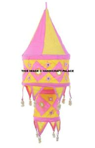 3 Step Embroidery Mirror Work Garden Event Decorations Bohemian Cotton Lampshade