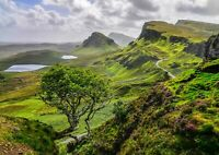 A4| Quiraing Mountains Poster Size A4 Isle Of Skye Scotland Poster Gift #16377