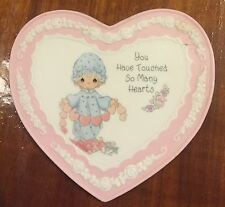 Precious Moments heart shaped bisque porcelain plaque Enesco 1994