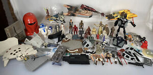 Star Wars Bundle Figures, Vehicles, Spaceships Spares HUGE bundle Hasbro Kenner