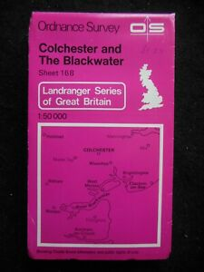 Ordnance Survey Map - Colchester & The Blackwater - Essex, England - Sheet 168