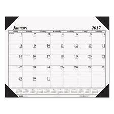 House of Doolittle 2018 Refillable 4-Corner Month Desk Pad Calendar Holder - 124