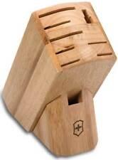 Victorinox Swiss Army 9-Slot Hardwood Block holds 7 knives 41499L ****NEW****