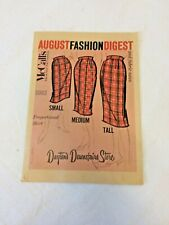 Vintage DAYTON'S McCall's Sewing Pattern Counter Booklet 1959 50's Fashion adv