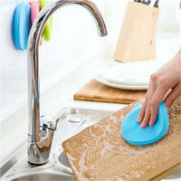 Silicone Sponge Kitchen Cleaning For Dish Washing Scrubber antibacterial Tools