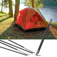 Fiberglass Camping Tent Pole Support Kit Awning Frames Tarp Rod Adjustable Solid