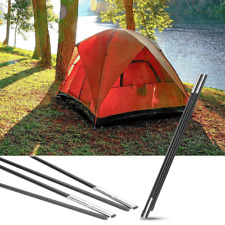 Fiberglass Camping Tent Pole Support Kit Awning Frames Tarp Rod Adjustable Solid