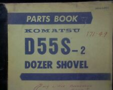 Komatsu D55S-2, D55S Dozer Shovel, Bulldozer Spare parts manual / book