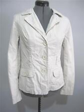 JUST JEANS Womens JACKET Size 8 Neutral Cream Coat Winter Cotton Ladies Lined