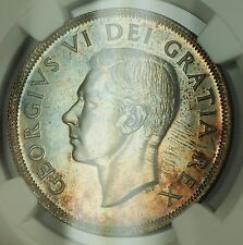 1949 Canada Silver Dollar $1 NGC MS-64 Toned (Better Coin)