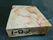 FF- FLAME BOX ELDER BURL  DELUXE KNIFE BLOCK/SCALES/ CALLS/ PEN BLANKS--F--B--1
