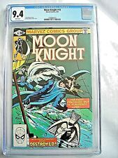 Marvel MOON KNIGHT #10 CGC 9.4 NM White Pages Bill Sienkiewicz 1981