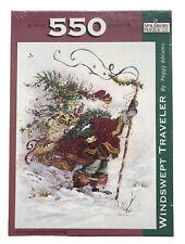 New VTG Christmas Elf Santa Windswept Traveler 550 Spilsbury Puzzle Abrams Art