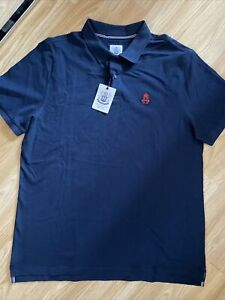 Hurlingham Polo 1875 New Men's Regular Fit Navy Blue XL Polo Shirt RRP £60