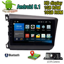 "9"" Android 8.1 For Honda Civic 2012 HD Car DVD Playe GPS Navigation Radio Stereo"