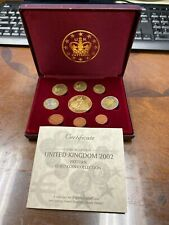 UNITED KINGDOM 2002 PATTERN EURO COIN COLLECTION