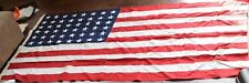 48 Star American Flag Sewn VTG 9.5' X 4.5' Solid Huge USA United States WWII Era
