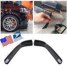 Carbon Fiber Look Car Front Bumper Lip Diffuser Splitters Canard Faster Shipping