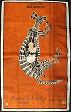 Vintage c1980, Aboriginal Bark Painting: KANGAROO  Goulburn Island - Australia