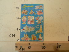 STICKER,DECAL SHEET WITH STICKERS DISNEY INTRODUCT CINDERELLA