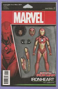 Invincible Iron Man 1 Action Figure variant 1st Ironheart Riri Williams series x