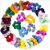 Set of 10 20 40 Women Velvet Hair Scrunchies Elastic Bobble Ponytail Holder Tie