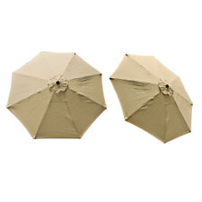 Replacement Cover Canopy 9 FT 8 Ribs Umbrella Tan Top Patio Market Outdoor