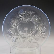 More details for signed jobling art deco opalescent glass fircone plate / dish