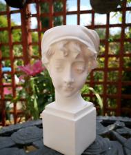 White Resin Head Bust Sculpture Flowerpot Flower Vase Home Decor